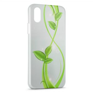 Coque iPhone XS Max Green Plants