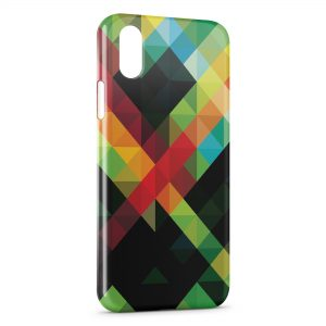 Coque iPhone XS Max Green Red Black & Yellow