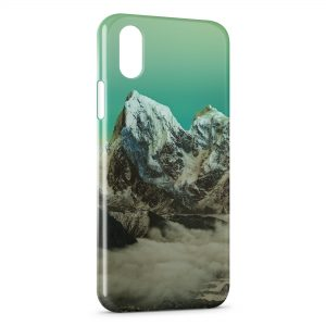 Coque iPhone XS Max Green Sky & Moutain