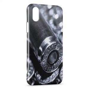 Coque iPhone XS Max Gun Pistolet Balles