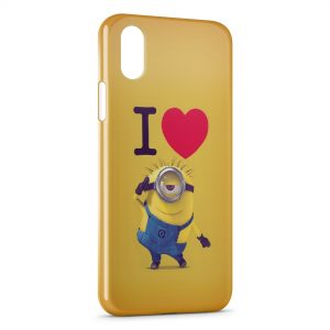 Coque iPhone XS Max I love Minion