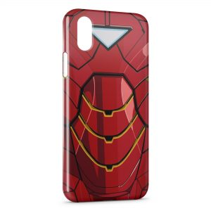 Coque iPhone XS Max Iron Man Avenger Style Red Armure