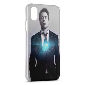 Coque iPhone XS Max Iron Man Style Stark