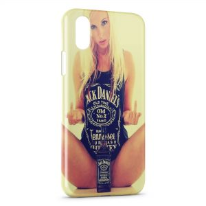 Coque iPhone XS Max Jack Daniel's Sexy Girl Blonde