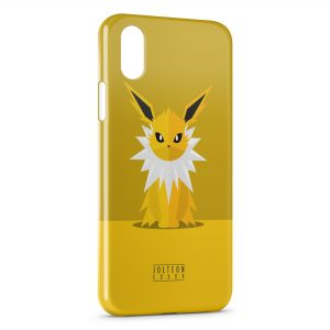 Coque iPhone XS Max Jolteon Pokemon Simple Art