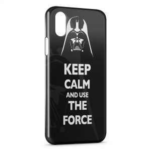 Coque iPhone XS Max Keep Calm Star Wars Dark Vador 2