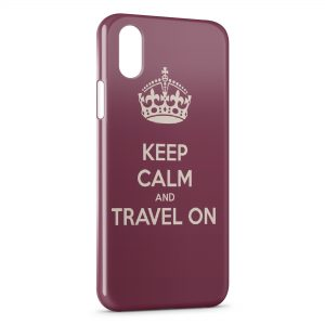 Coque iPhone XS Max Keep Calm and Travel On