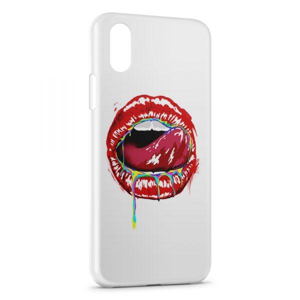 Coque iPhone XS Max Kiss Color