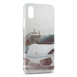 Coque iPhone XS Max Lamborghini Blanche