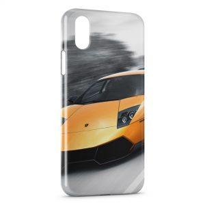 Coque iPhone XS Max Lamborghini Murcielago Jaune Voiture