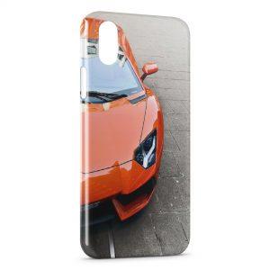 Coque iPhone XS Max Lamborghini Orange