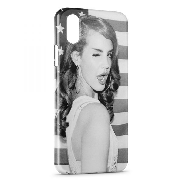 Coque iPhone XS Max Lana Del Rey vintage USA