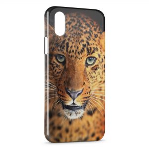 Coque iPhone XS Max Leopard
