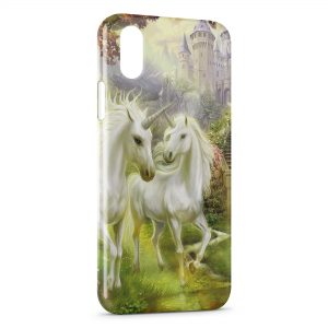 Coque iPhone XS Max Licorne Paradise