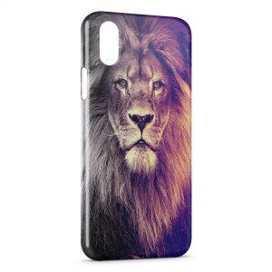 Coque iPhone XS Max Lion Colors Fun