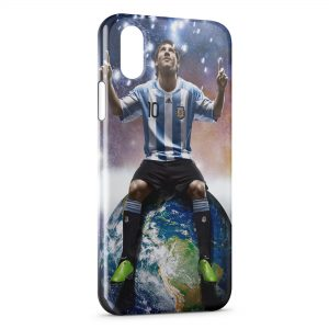Coque iPhone XS Max Lionel Messi Football 11