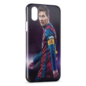 Coque iPhone XS Max Lionel Messi Football