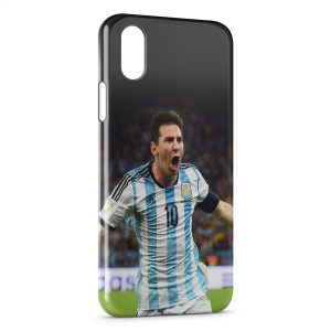 Coque iPhone XS Max Lionel Messi Football 5