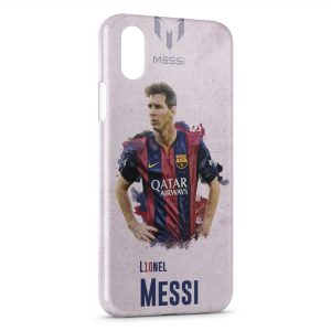 Coque iPhone XS Max Lionel Messi Football Barcelone