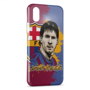 Coque iPhone XS Max Lionel Messi Football FC Barcelone 5