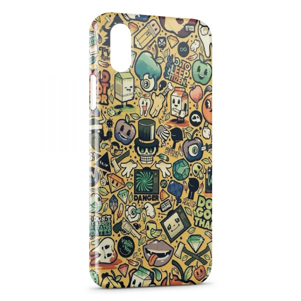 Coque iPhone XS Max Little Monsters Art Design