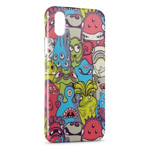 Coque iPhone XS Max Little Multicolor Monsters