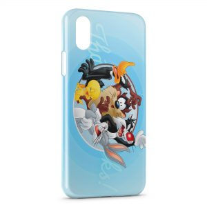 Coque iPhone XS Max Looney Tunes Groupe