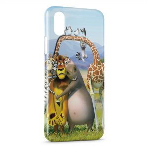 Coque iPhone XS Max Madagascar Cartoon