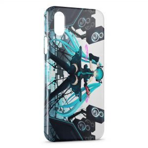 Coque iPhone XS Max Manga Anime Girl Music