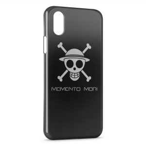 Coque iPhone XS Max Manga One Piece Tete de mort Black