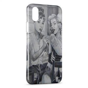Coque iPhone XS Max Marilyn Monroe et Audrey Hepburn