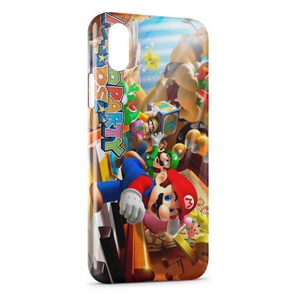 Coque iPhone XS Max Mario Party