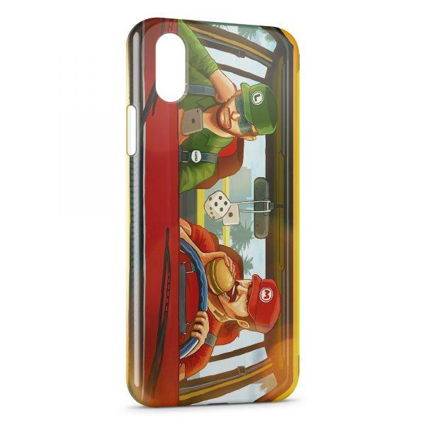 Coque iPhone XS Max Mario et Luigi Modernes