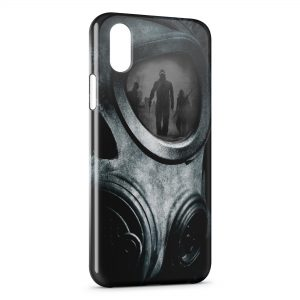 Coque iPhone XS Max Masque a Gaz