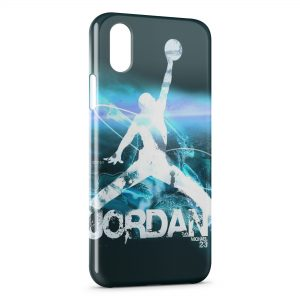 Coque iPhone XS Max Michael Jordan Basket Graphic Logo