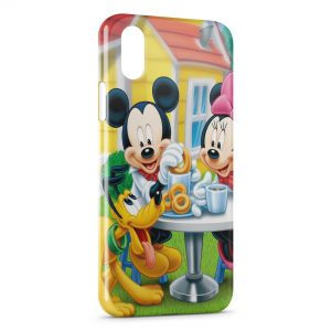 Coque iPhone XS Max Mickey Minnie Pluto 3