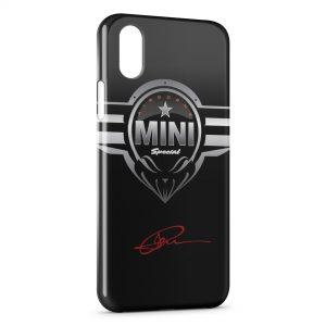 Coque iPhone XS Max Mini Cooper Voiture Logo