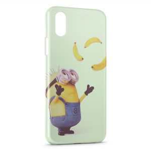 Coque iPhone XS Max Minion Bananes 3