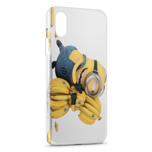 Coque iPhone XS Max Minion Bananes