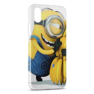Coque iPhone XS Max Minion Bananes 4