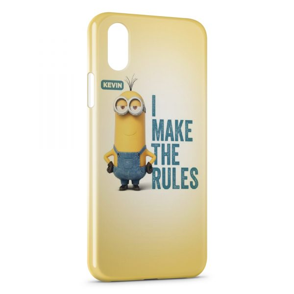 Coque iPhone XS Max Minion Kevin Make the rules