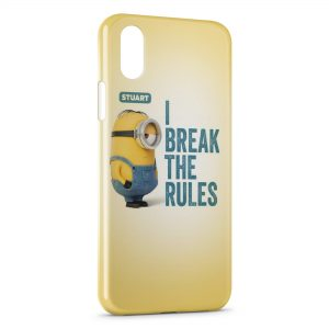 Coque iPhone XS Max Minion Stuart I break the rules