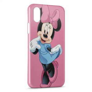 Coque iPhone XS Max Minnie Punk Rose