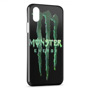 Coque iPhone XS Max Monster Energy 3D Logo