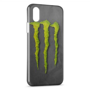Coque iPhone XS Max Monster Energy Grey Style
