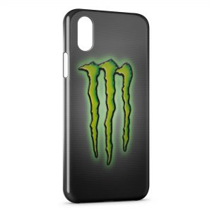 Coque iPhone XS Max Monster Energy Logo Green