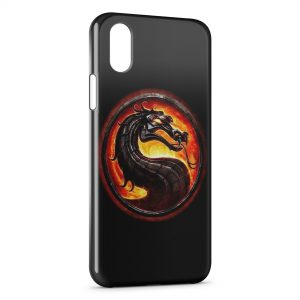 Coque iPhone XS Max Mortal Kombat Deisgn Black Style