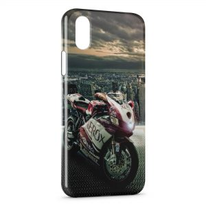 Coque iPhone XS Max Moto & City Design