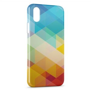 Coque iPhone XS Max Multicolor 3D Design