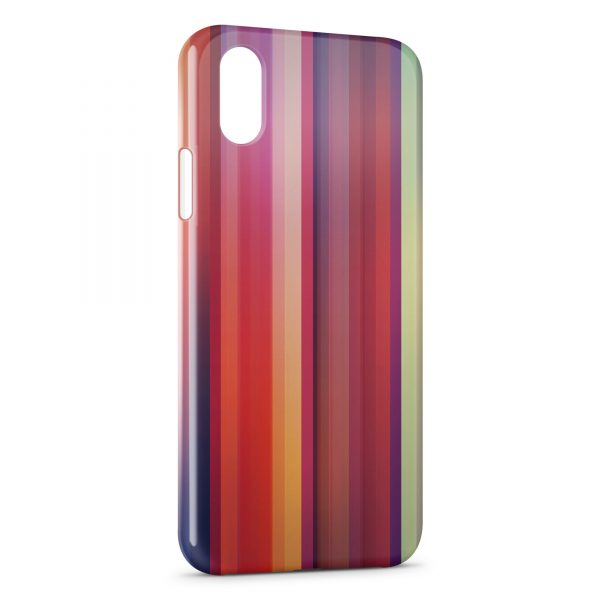 Coque iPhone XS Max Multicolor Lines Style